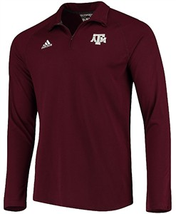 Texas A&M Aggies Mens Maroon Adidas Climalite Ultimate Quarter Zip Pullover Jacket