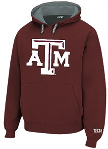 Texas A&M Aggies Mens Maroon Embroidered Icon Hoodie Sweatshirt