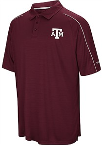 Texas A&M Aggies Mens Maroon Touchback Polyester Polo Shirt on Sale