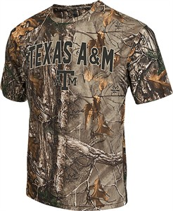 Texas A&M Aggies Mens RealTree Brow Tine Camo Synthetic T Shirt by Colosseum