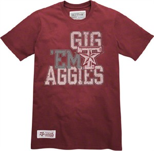 Texas A&M Aggies One on One Basketball T Shirt by Majestic