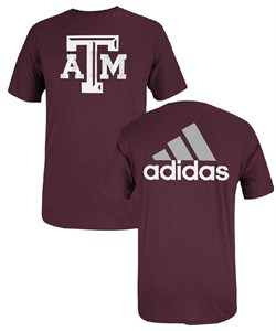 Texas A&M Aggies Short Sleeve Guts and Glory T By Adidas