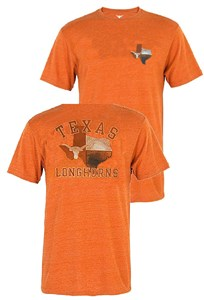 Texas Longhorns Mens Proud Texan 2 S-Sided T Shirt by 289c on Sale