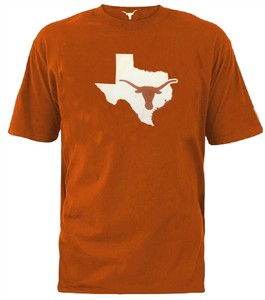 Texas Longhorns Adult Orange Longhorn State Short Sleeve T Shirt on Sale