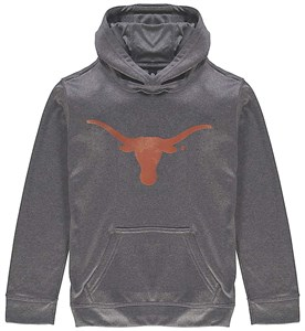 Texas Longhorns Charcoal Silhouette Synthetic Poly Hoodie Sweatshirt by 289c