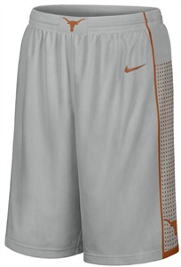 Texas Longhorns Grey 12 Inseam Nike Embroidered Player Basketball Shorts
