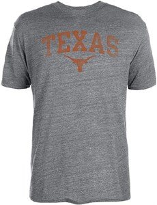 Texas Longhorns Grey Worn Arch Tri-Blend T Shirt by 289c appaon Salerel