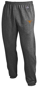 Texas Longhorns Men's Charcoal Grey Closed Bottom Powerblend Sweatpants