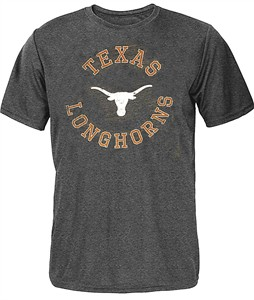 Texas Longhorns Mens Heather Black Tri-Blend Lurch SS T Shirt on Sale