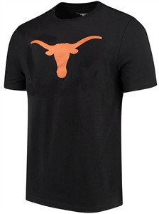 Texas Longhorns Mens Black Silhouette Cotton T Shirt