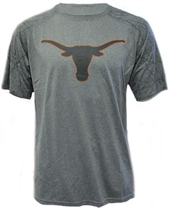 Texas Longhorns Mens Charcoal Hillsdale Poly Short Sleeve Shirt by 289c on Sale