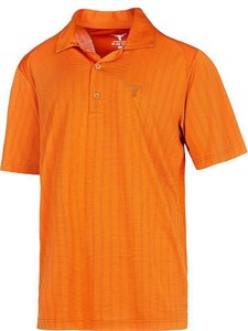 Texas Longhorns Mens Orange Bowman Synthetic Golf Shirt on Sale