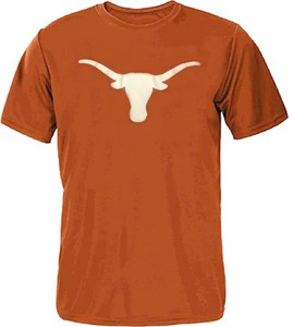 Texas Longhorns Mens Orange Pigment Dyed UT Silhouette T Shirt on Sale