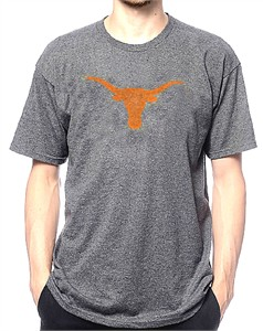 Texas Longhorns Mens Tri-Blend Worn Silhouette Bevo T Shirt on Sale