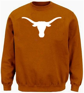 Texas Longhorns Mens Tx. Orange Silhouette Embroidered Crew Sweatshirt