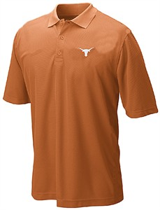 Texas Longhorns Mens Tx Orange Silhouette Poly Synthetic Polo Shirt by 289c