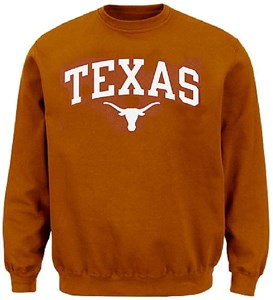 Texas Longhorns Mens UT Orange Arch Screened Crew Sweatshirt by 289c Apparel