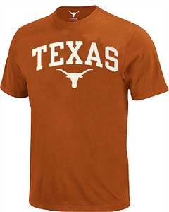 Texas Longhorns Mens UT Orange Arch Short Sleeve T Shirt by 289c Apparel on Sale