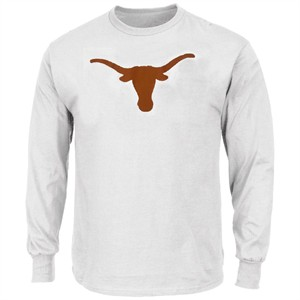 Texas Longhorns Mens White Silhouette Long Sleeve Tee Shirt by 289c on Sale