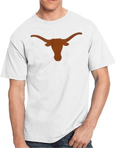Texas Longhorns Mens White Silhouette Short Sleeve T Shirt by 289c Apparel on Sale
