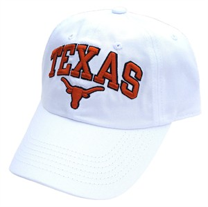 hot sale online 84cb9 3af45 Texas Longhorns Secondary Team Relaxed-Fit White Adjustable Cap   Texas  Longhorns-View All Apparel