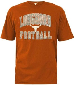 Texas Longhorns UT Orange Mens Raffin Short Sleeve T Shirt  on Sale