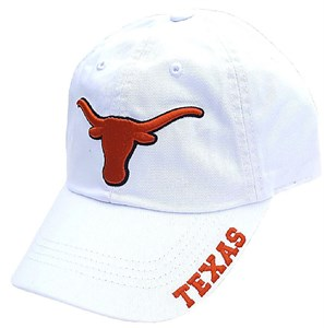 Texas Longhorns White Basic Slouch Adjustable Cap
