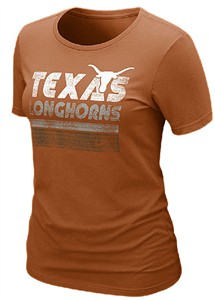 Texas Longhorns Women's Slim-FIT Fan Tee by Nike on Sale