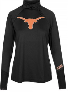 Texas Longhorns Womens Black Payne ¼ Zip Synthetic Pullover Windshirt