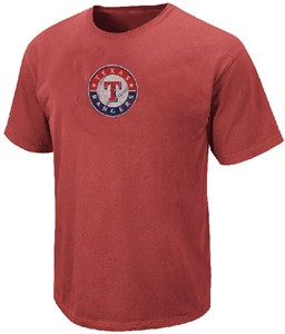Texas Rangers Big Time Play Stone Washed Short Sleeve T Shirt by Majestic