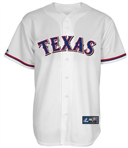Texas Rangers Cooperstown Home Replica Baseball Jersey by Majestic on Sale