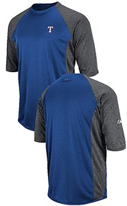 Texas Rangers Featherweight Therma Base Tech Shirt by Majestic
