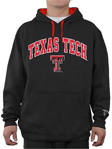 Texas Tech Red Raiders Black Embroidered College Classic Hoodie Sweatshirt on Sale