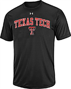 Texas Tech Red Raiders Black Poly Dry HeatGear NuTech Performance Shirt by Under Armour