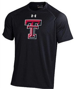 Texas Tech Red Raiders Black Under Armour Poly Dry Logo HeatGear Nu Tech Short Sleeve Shirt