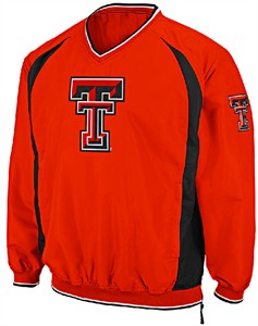Texas Tech Red Raiders Embroidered V Neck Trainer Wind Jacket by Colosseum