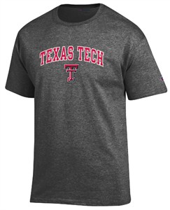 Texas Tech Red Raiders Granite Heather Champion Campus Short Sleeve Tee Shirt