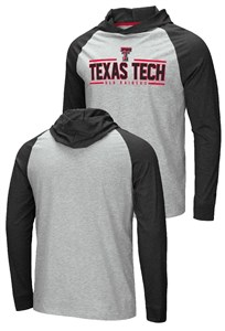 Texas Tech Red Raiders Grey Slopestyle Long Sleeve Hoodie T Shirt