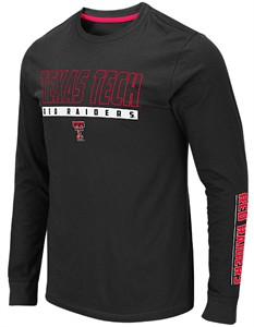 Texas Tech Red Raiders Men's Black Guam Long Sleeve T Shirt