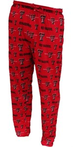 Texas Tech Red Raiders Mens Red Insider Pajama Pants by Concepts Sports
