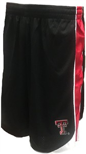 Texas Tech Red Raiders  Embroidered Poly Vector Shorts-Black