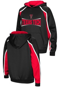 Texas Tech Red Raiders Youth Hook and Lateral Pullover Synthetic Hoodie Sweatshirt