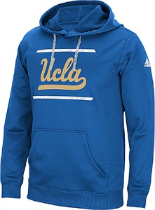 UCLA Bruins Mens Sport Blue Sidelines Energize Synthetic Hoodie by Adidas