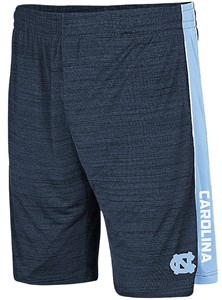 UNC Tar Heels Mens Navy Colosseum Grounder Polyester Shorts