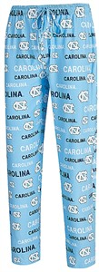 UNC Tarheels Men's Carolina Blue Midfield Synthetic Pajama Pants by College Concepts