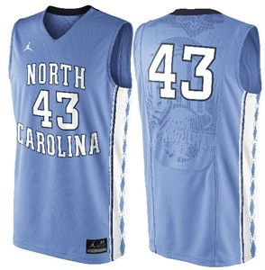 online store 34b25 4a0bd UNC Tarheels Youth 43 Columbia Blue Basketball Jersey by ...