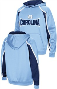 UNC Tarheels Youth Hook and Lateral Pullover Synthetic Hoodie Sweatshirt
