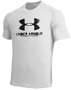 Under Armour Mens White Poly Dry HeatGear NuTech Performance Shirt on Sale