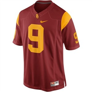 USC Trojans Boys Game #9 Crimson Football Jersey By Nike