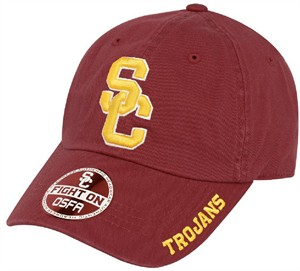 USC Trojans Cardinal Basic Slouch Adjustable Cap on Sale